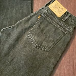 Mens Levi's 505 Black Jeans Regular Fit Straight
